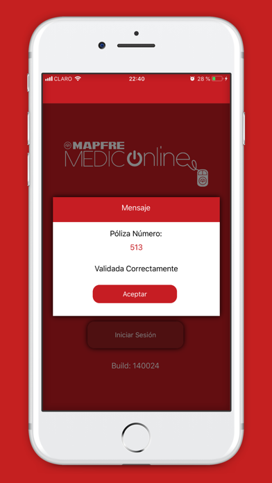 MAPFRE Medico Online screenshot two