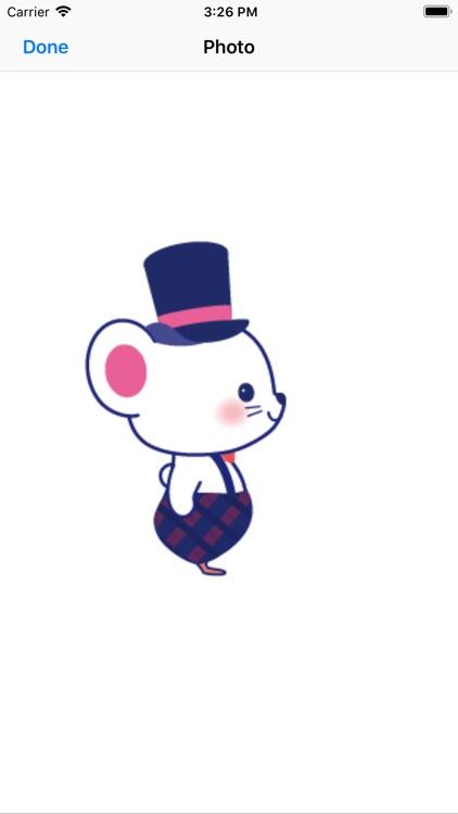 GIF可爱老鼠贴纸-YiYuan screenshot-3