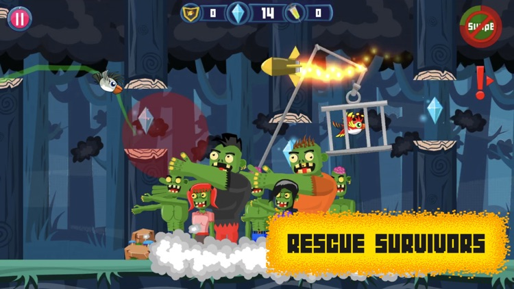 Brawl Birds: Crazy Zombie Run screenshot-0