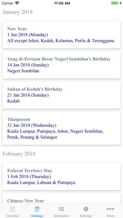Malaysia Calendar 2020 /2019 screenshot two