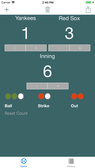 Quick Baseball Scoreboard screenshot 1