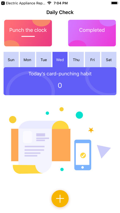 Daily Check-in-Habit Formation Screenshot