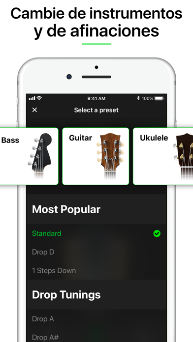 Screenshot for Guitar Tuner Pro, Bass,Ukulele in Chile App Store