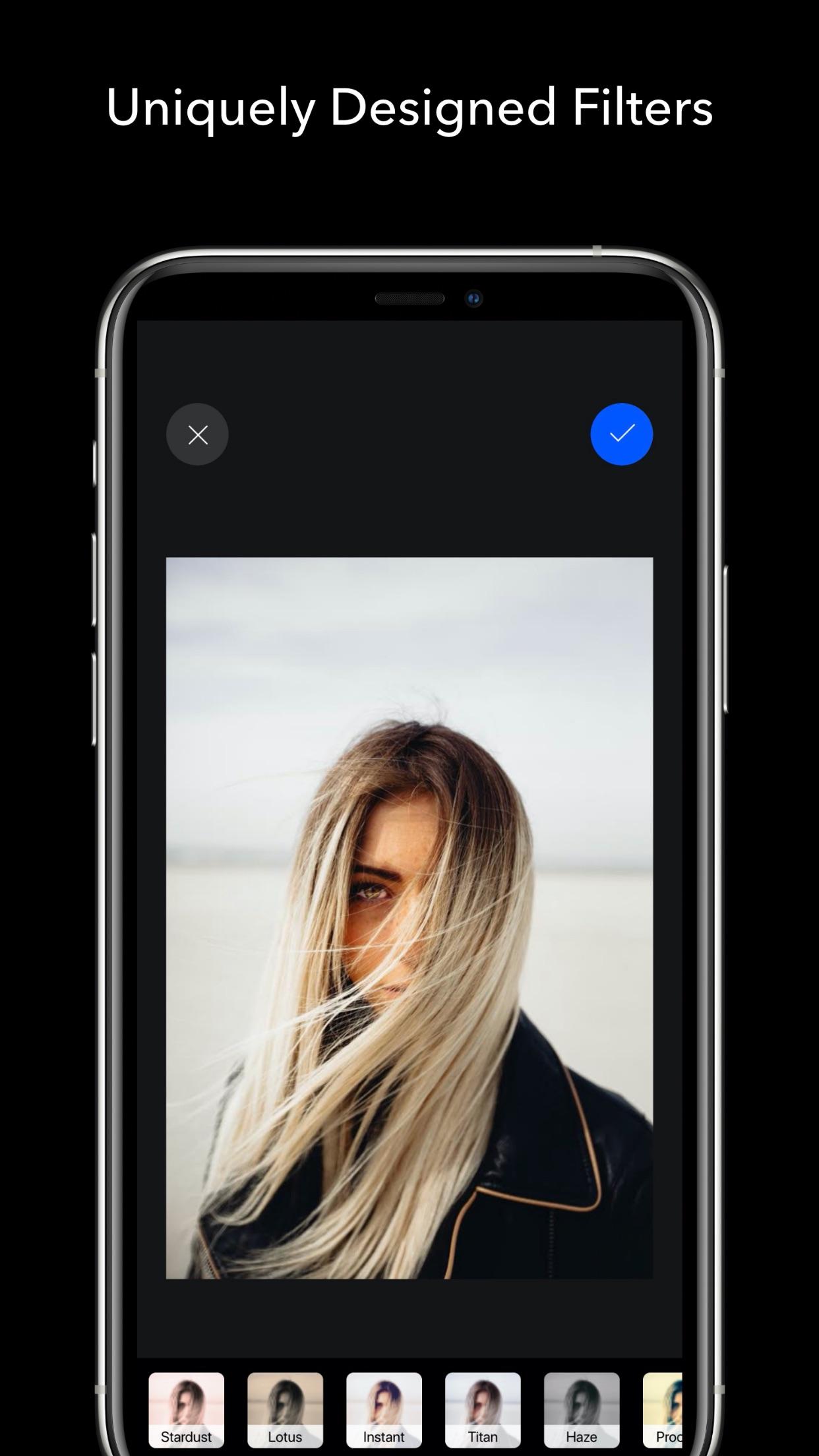 Screenshot do app AURA - Camera Photo Editor