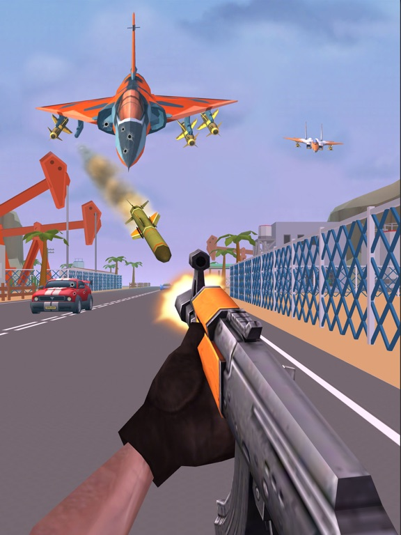 Shooting Escape Road-Gun Gamesのおすすめ画像1