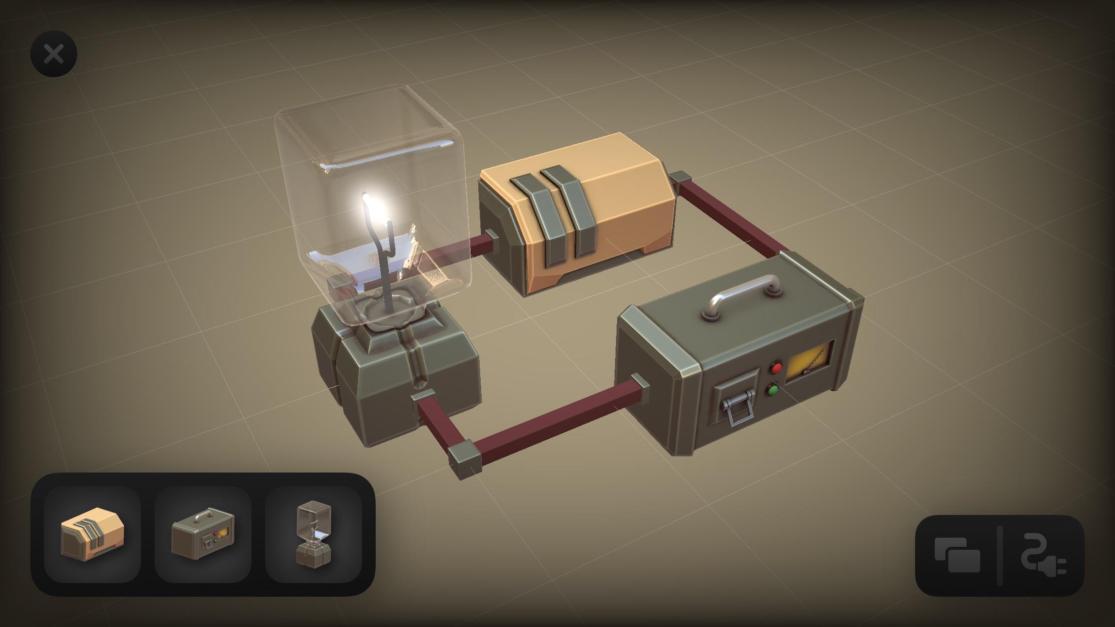 Screenshot do app Circuitry - 3D Circuit Builder