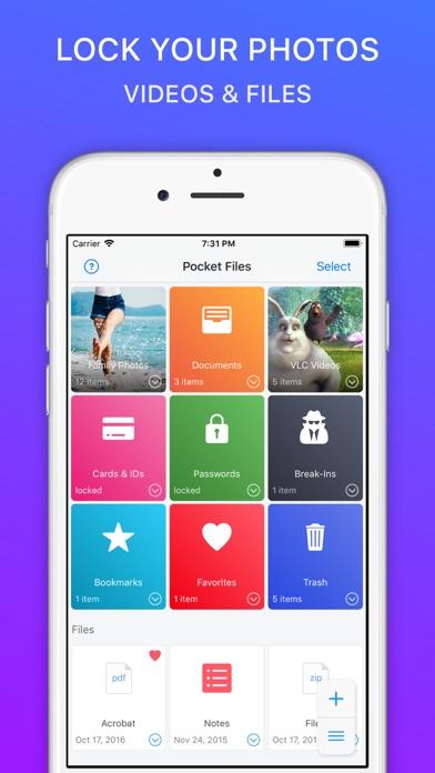 PocketFiles: Photo Video Vault by Rambax, LLC (iOS, United