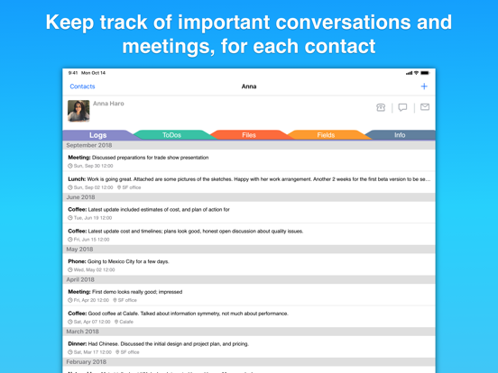 Screenshot #4 pour Contacts Journal CRM