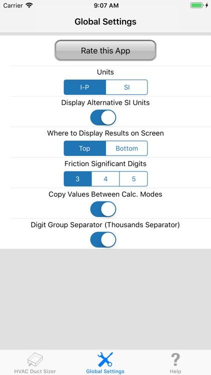 ASHRAE HVAC Duct Sizer screenshot-6