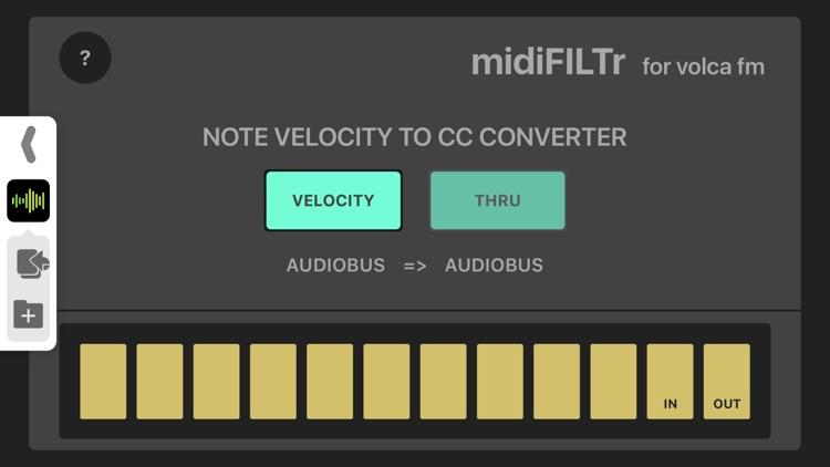 midiFILTr-VF for Volca FM