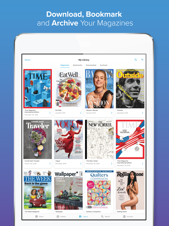Zinio - 5,000+ Digital Magazines screenshot