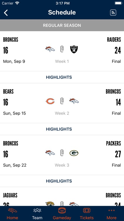 Denver Broncos 365 screenshot-3