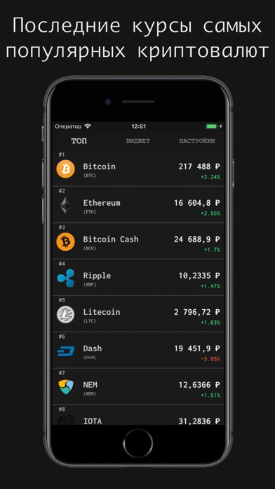 Курсы Криптовалют с ВиджетомСкриншоты 3