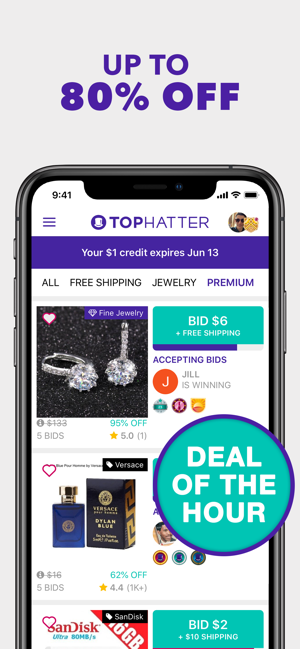 Tophatter Win Fun Discounts On The App Store