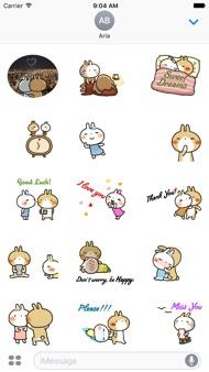 Animated Lovely Rabbit Couple iphone images