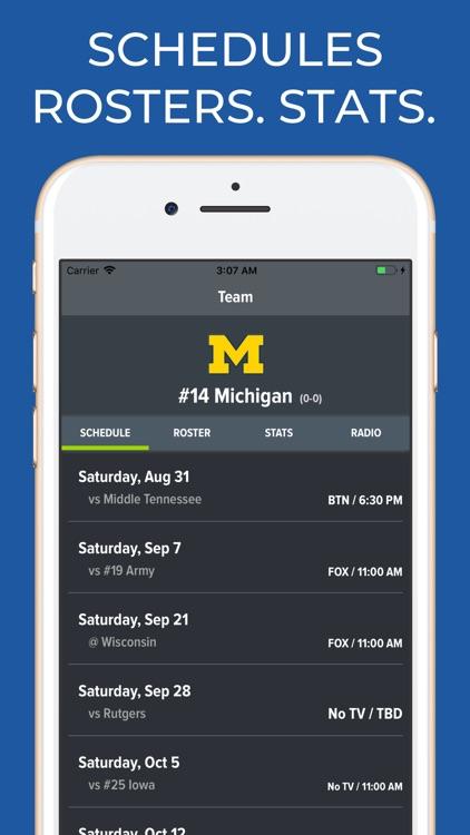 Michigan Football Schedules