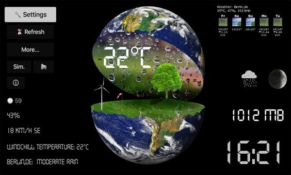 TV Weather Globe