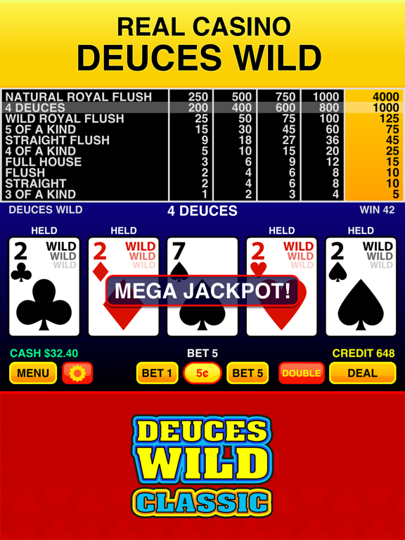 Screenshot #4 pour Deuces Wild Casino Video Poker