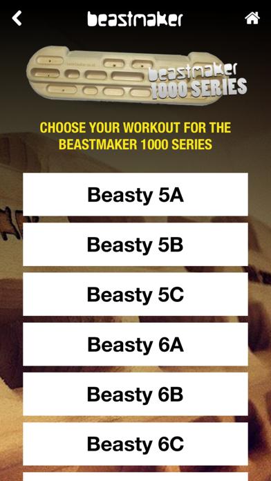 Beastmaker Training App iphone captures décran