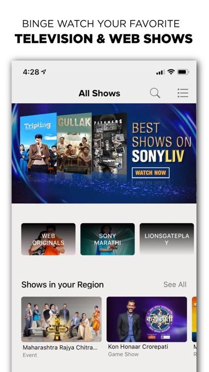SonyLIV–LIVE Cricket TV Movies screenshot-3
