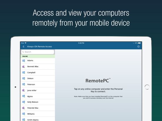 RemotePC Remote Desktop by IDrive Incorporated (iOS, United