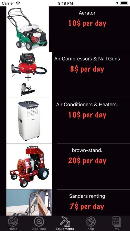 Rental Of Equipment screenshot-5