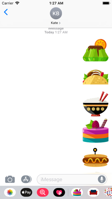 Foods Stickers app image