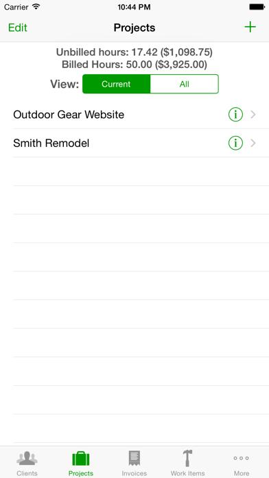 Timewerks: Mobile Billing screenshot two