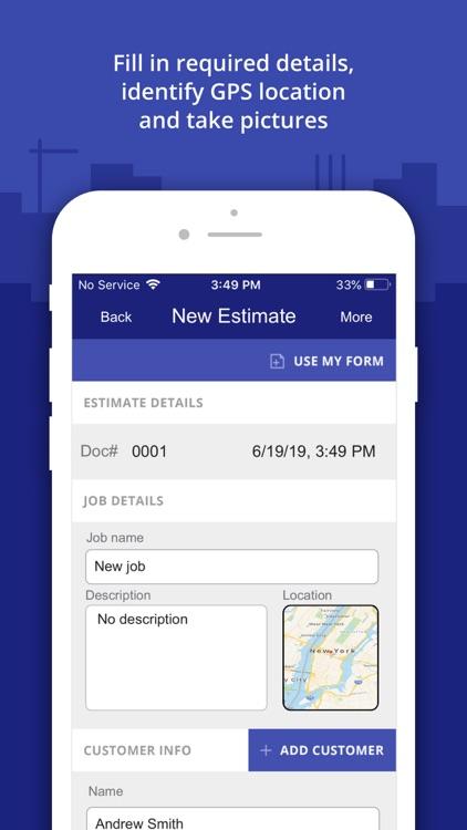 Construction Estimator App