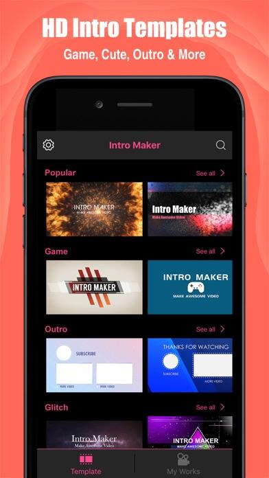 Intro Maker- yt intro designer Screenshot