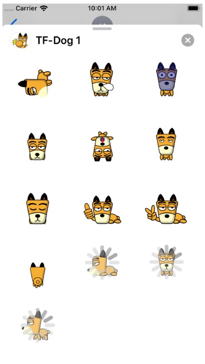 TF-Dog 1 Stickers screenshot-3