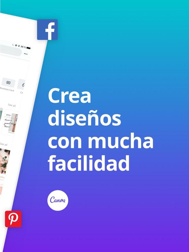 Canva Crear Fotos Diseño En App Store