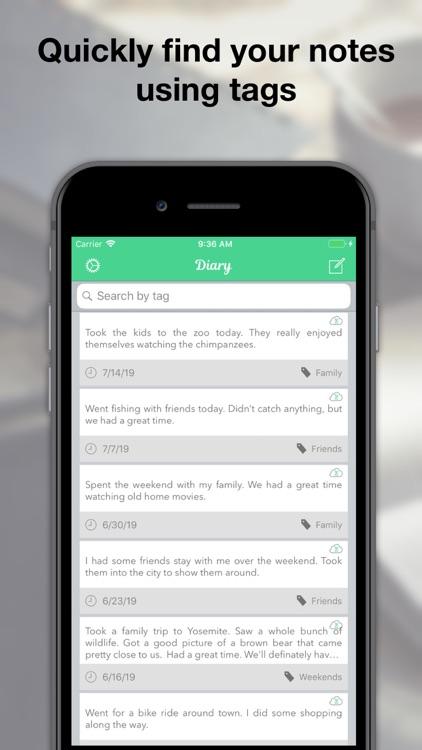 Life Diary - Memories & Notes screenshot-4