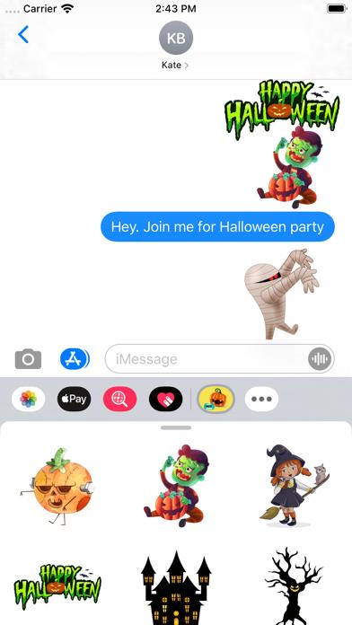 Creepy Halloween Stickers screenshot 1