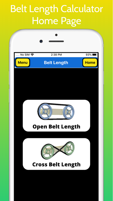 Belt Length Calculator screenshot 1
