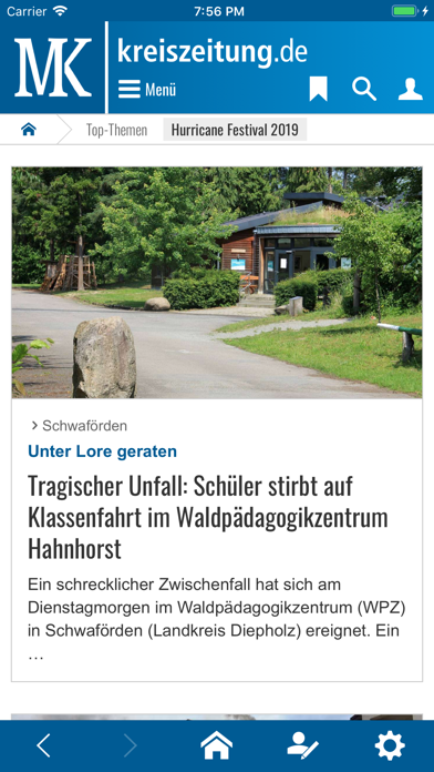 Kreiszeitung.de screenshot one