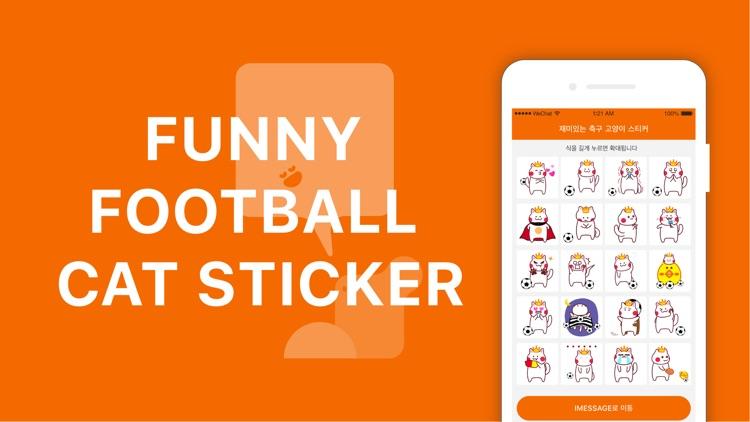 Funny football cat sticker