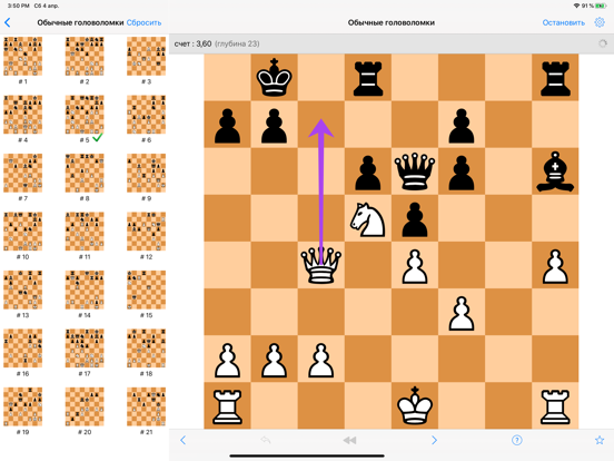 Шахматные головоломки на iPad