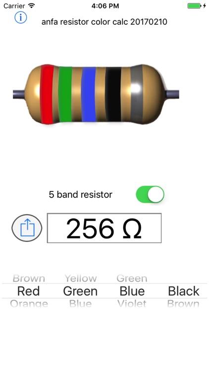 Resistor color calc