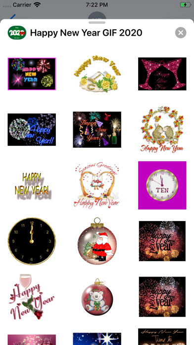 Screenshot of Happy New Year GIF 2020 App