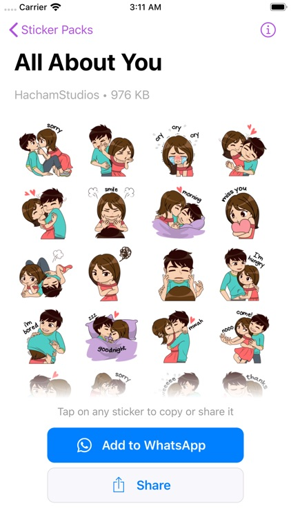 Stickers Love Story