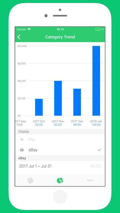 かけいぼ - 人気お小遣い帳(おこづかい帳)Budget screenshot-5