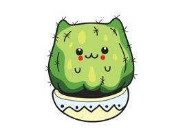 Dessert Cactus Stickers