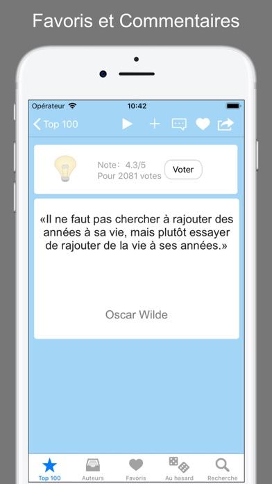 Screenshot #2 pour Citations et Proverbes