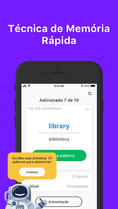Screenshot for Rocka: Aprenda inglês in Brazil App Store