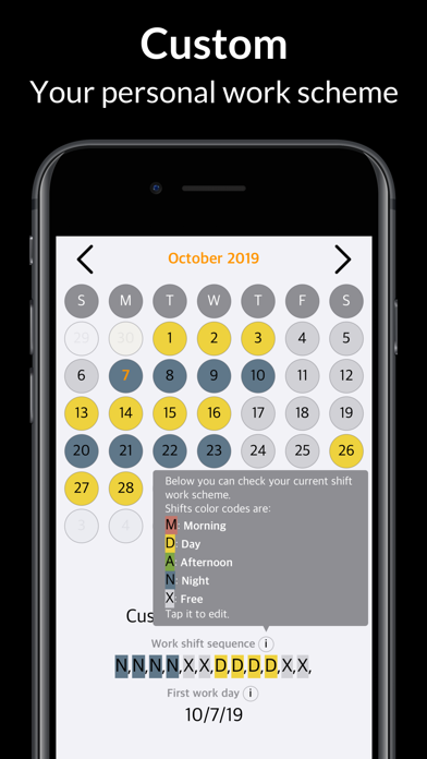 Rosta – My Shift Work Calendar screenshot one