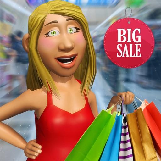Supermarket Shopping Girl Game Icon