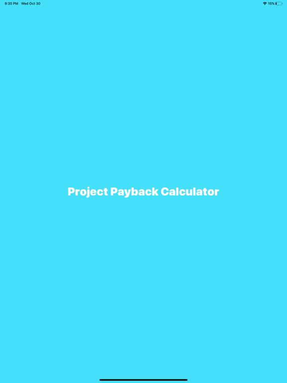 Project Payback Calculator-ROI screenshot 4
