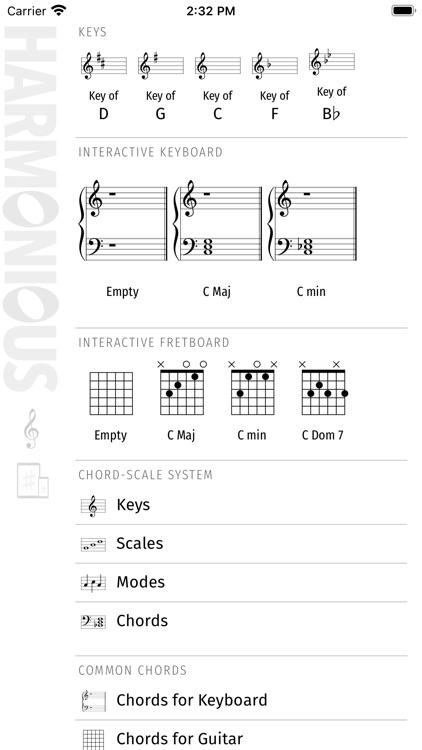 Harmonious: Music Theory