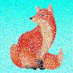 Animated Doted Animals Sticker